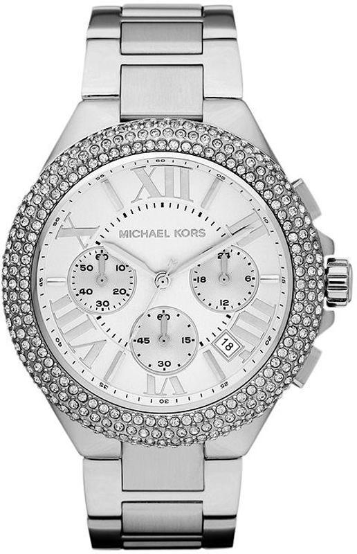 Michael Kors Camille Zilveren chronograaf met kristallen: https://www.horloge.nl/michael-kors-camille-zilveren-chronograaf...