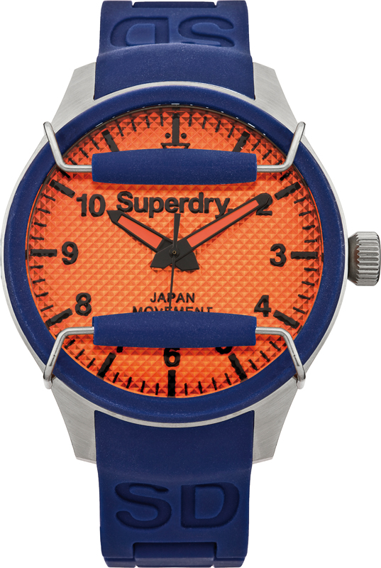 Superdry Scuba Rescue Blue & Orange Diver Style Gents Watch